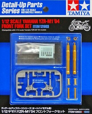 Tamiya Detail-Up Parts Series 1/12 Yamaha M1 2004 Front Fork Set Item12603