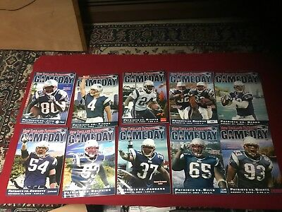 New England Patriots Game Day magazine programs 2003 complete set