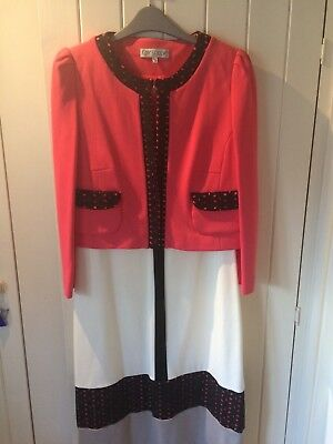 designer dress and matching jacket by Kate Cooper size 14.