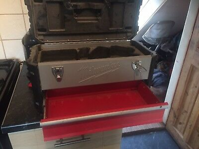 Milwaukee Toolbox with drill storage and darw