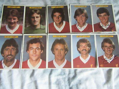 1980 autographed liverpool cards