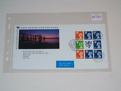 Stamp Pickers Great Britain Machins Scots Connection FDC #SMH45a BK153 Cover $20