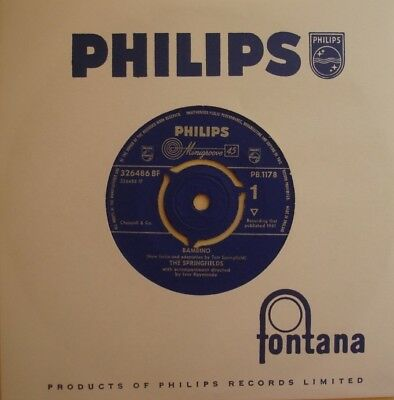 Springfields, Bambino / Star Of Hope, N/mint Philips, 7Inch 45Rpm