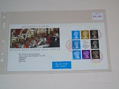 Stamp Pickers Great Britain Machins London Life FDC #MH196a BK154 Cover $42