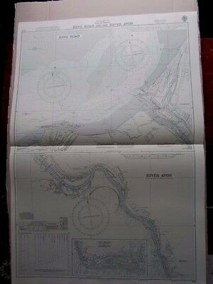 1970 PORT of BRISTOL - KING ROAD & RIVER AVON - Admiralty Chart SEA MAP A31