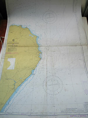"1979 - FRASERBURGH to NEWBURGH - SCOTLAND Nautical SEA MAP Chart 28"" x 41"""