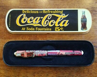 Vintage Coca-Cola Pen in Tin 1995