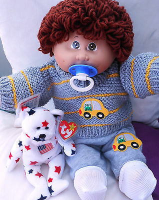 Cabbage Patch Vintage Boy From The 80's V.clean Clear Face Non Cpkids Clothes
