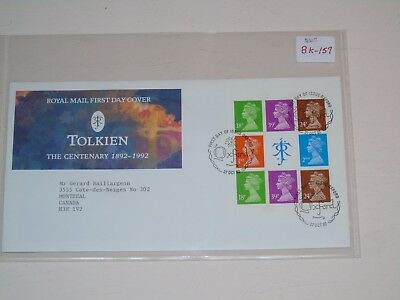 Stamp Pickers Great Britain Machins J.R.R. Tolkien FDC #MH187b BK157 Cover $35