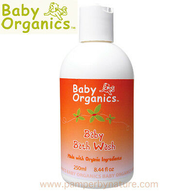 Baby Organics Baby Bath Wash 250ml - Made with Organic Ingredients