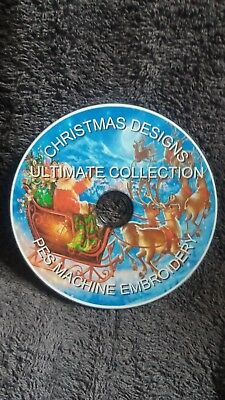 Ultimate christmas collection pes machine embroidery designs cd/dvd disc