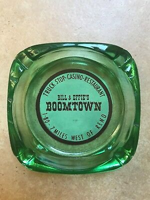 Vintage Casino Ashtray Bill & Effie's Boomtown Casino Restaurant Reno Nevada
