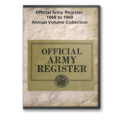 Official Army Register 1865 to 1969 Collection / 109 Volumes on Two DVDs A723-4