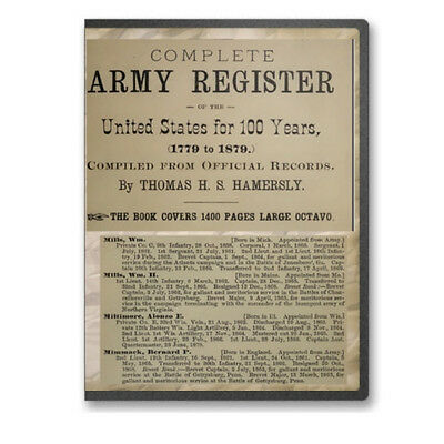 Complete Regular Army Register for One Hundred Years (1779 to 1879) on CD B467