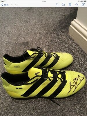 Adidas Boots Worn On Match day & Signed By David De Gea
