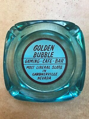 Vintage Casino Ashtray Golden Bubble Gardnerville Nevada