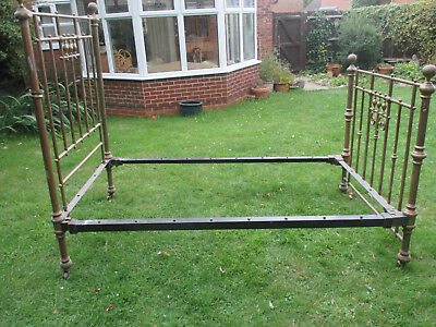 "Victorian antique brass bed frame (3'6"")"