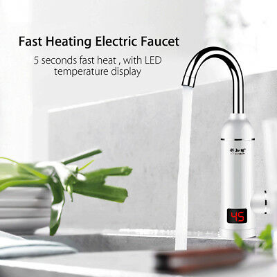 LED Digital Display 220V Instant Heating Electric House Water Heater Faucet Tap