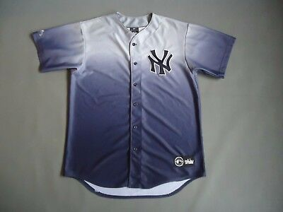NEW YORK YANKEES MLB Shirt Jersey MAJESTIC Size XLARGE top