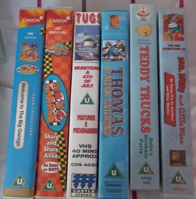 Lots Of Pre School Vhs £2.50 Each Thomas Tank Engine Teddy Trucks