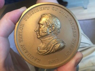 Rare US Treasury Reissue Zachary Taylor Peace Medal Wow!!