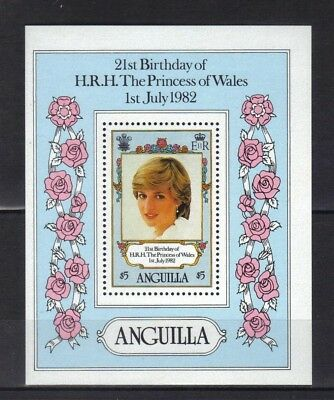 Anguilla. Princess Of Wales Birthday Mini Sheet 1982 Mnh