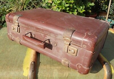 """Vintage French Suitcase ADAMAS 18""""w"""