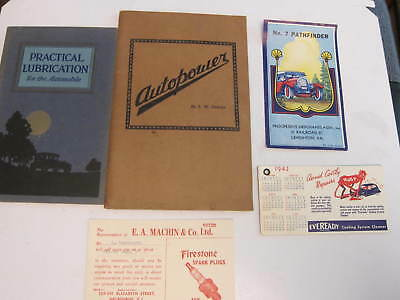 Large Lot of 12+ VINTAGE AUTO RELATED ADVERTISING * MATHIS * ATLANTIC *FIRESTONE