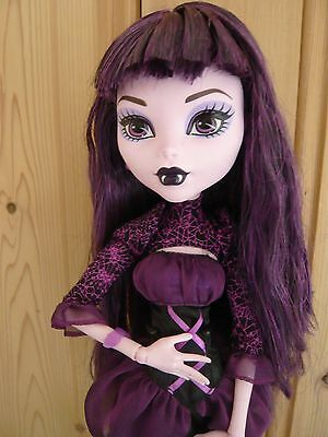 "17"" Monster High HTF Elissabat Doll Frightfully Tall Articulated Goth"
