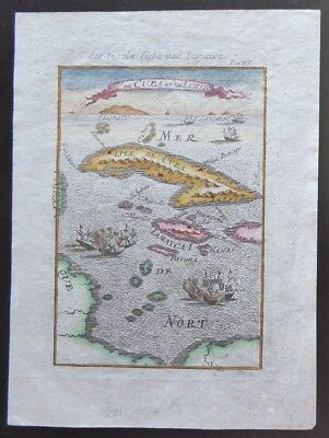 1685 Mallet German Version Cuba, Jamaica, Caribbean Florida on Horizon Cayman