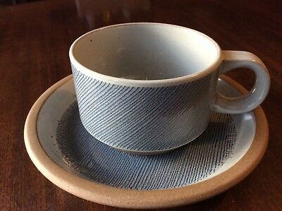 Midwinter Stoneware Shape Denim Tea Cup And Saucer Sw8