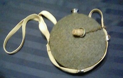 Civil War Confederate canteen used reproduction Gray Wool