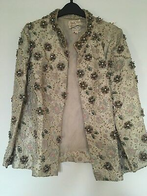 AMAZING Vintage Beaded Jacket Silk