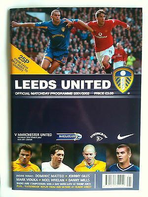 MINT 2001/02 Leeds United v Manchester United  Premier League