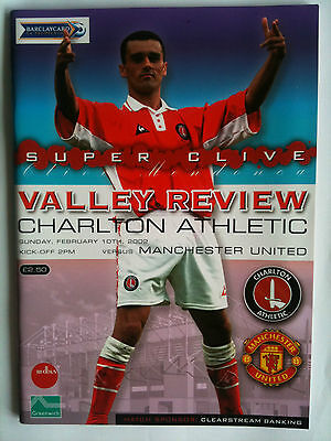 MINT 2001/02 Charlton Athletic v Manchester United  Premier League