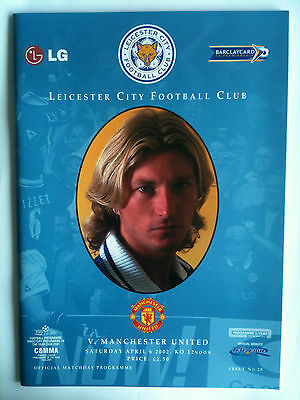 MINT 2001/02 Leicester City v Manchester United  Premier League