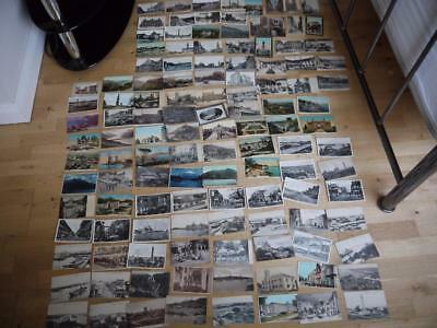 Superb Collection 121 Foreign Vintage Postcards Most <1935 Port Said Egypt India