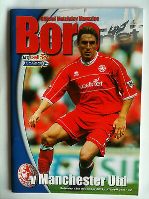 MINT 2001/02 Middlesbrough v Manchester United  Premier League