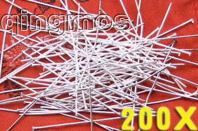 SALE Wholesale 200X Silver Plated Head 35mm long Pins -GP117 Free shipping