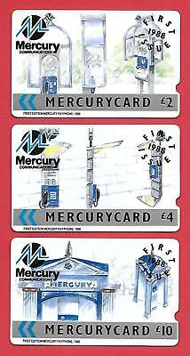 UK - MERCURY - MER - 001,002,003, FIRST ISSUE set of 3