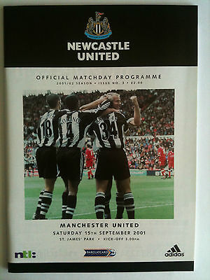 MINT 2001/02 Newcastle United v Manchester United  Premier League