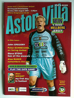 MINT 2001/02 Aston Villa v Manchester United  Premier League