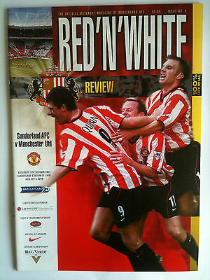 MINT 2001/02 Sunderland v Manchester United  Premier League