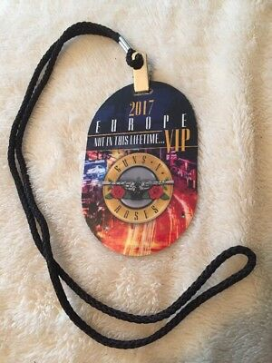 Guns N Roses Not In This Lifetime VIP 2017 Pass