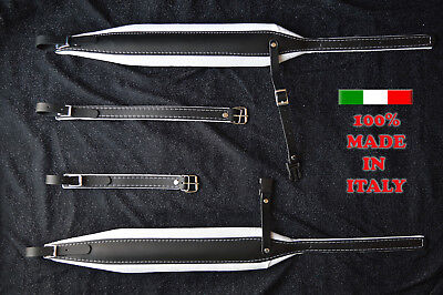 Accordion straps shoulder professional genuine leather and velvet 8cm DELUXE