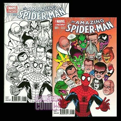Amazing Spider-Man #1 KEVIN MAGUIRE Variant & B&W Var Set MARVEL Comics NM-
