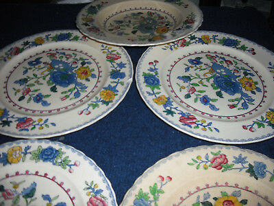 'Masons'  Regency Dinner ware Five items ( Plates & soup bowl )