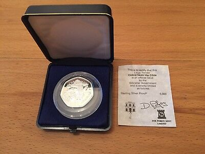Gibraltar 50p Christmas Silver Proof Coin 1996.