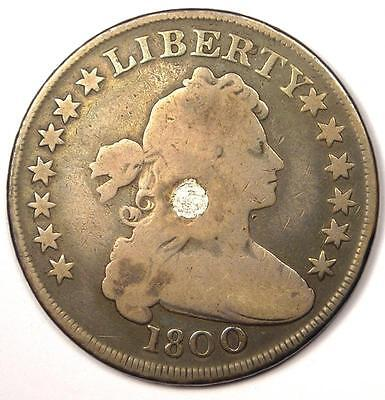 1800 Draped Bust Silver Dollar $1 - VG Details - Rare Type Coin!