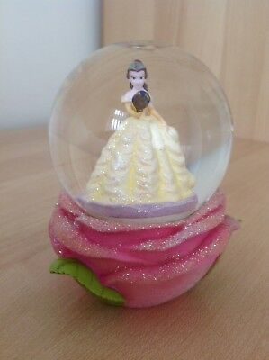 Gorgeous Collectable Disney Princess Beauty & The Beast Belle Rose Snowglobe